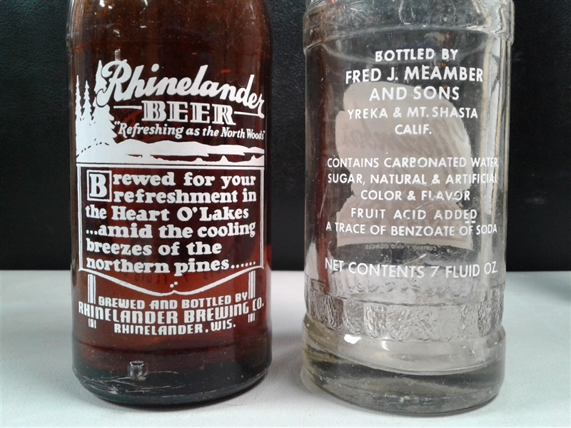 Antique/Vintage Local Soda Bottles Sun Crest, Meamber's (Yreka, Mt. Shasta & Klamath Falls) & More