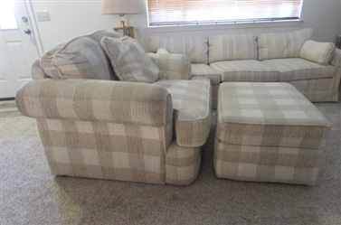 Oversized Easy Chair with Matching Ottoman