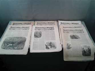 Antique 1850s & 1860s Issues Of Harpers Ferry Newspapers