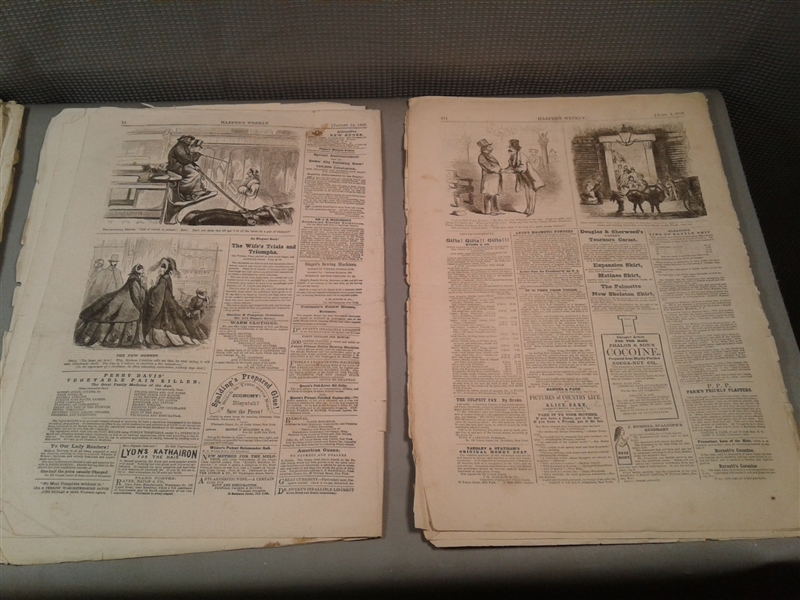 Antique 1850's & 1860's Issues Of Harper's Ferry Newspapers