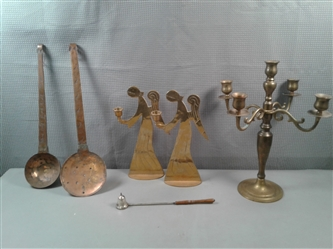 Vintage Copper And Brass Items