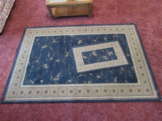MEDITERRANEAN AREA RUG & MATCHING ENTRY RUG